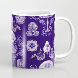Ernst Haeckel - Purple Jellyfish Pattern Coffee Mug