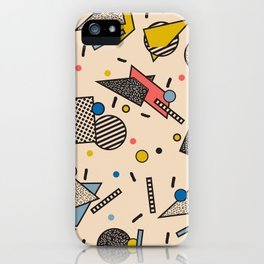 Memphis Inspired Pattern 7 iPhone Case