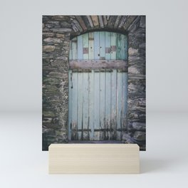 Old Blue Door II Mini Art Print