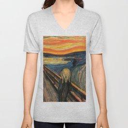 """Edvard Munch, """" The Scream """" Unisex V-Neck"""
