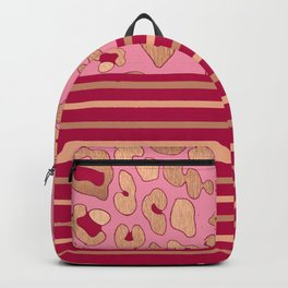 RoseGold: Leopard Stripe + Pink Backpack