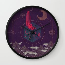 It Appeared in the Night Sky, and It Made the Wind Sharp Wall Clock