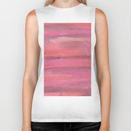 Pink Horizons Abstract Biker Tank