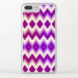 Purple Vintage Geometric Burst Clear iPhone Case