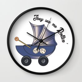 Rollin' Pram | Baby Lyf Collection Wall Clock
