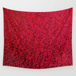RED SEQUNS. Wall Tapestry
