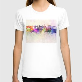 Pune skyline in watercolor background T-shirt