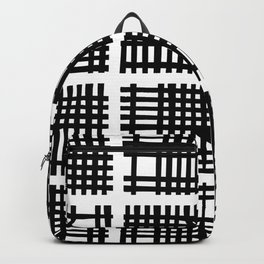 Mid Century Modern Abstract Squares Black and White Backpack