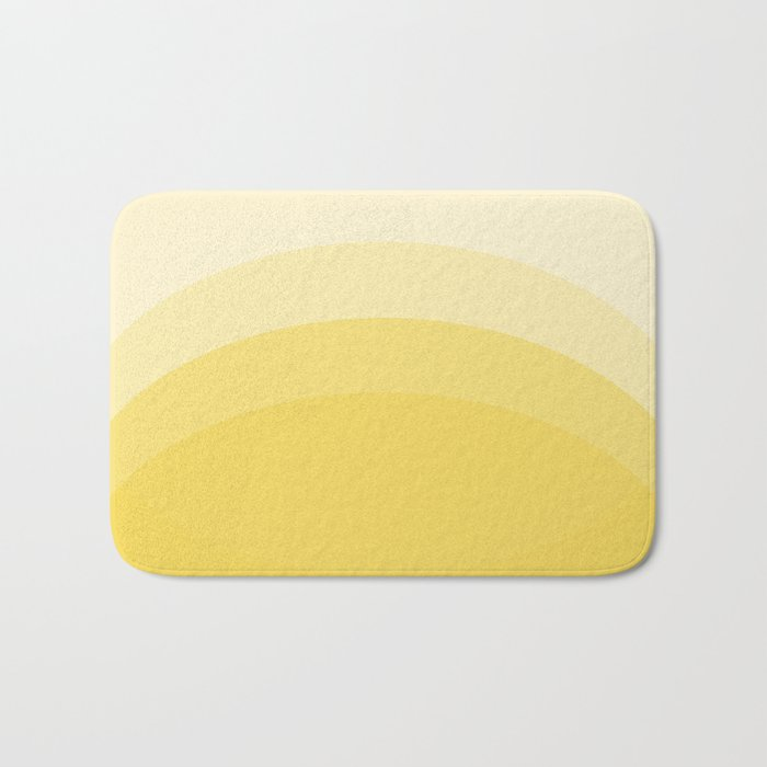 Four Shades of Yellow Curved Bath Mat