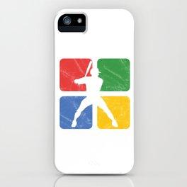 Baseball Distressed Vintage Pitcher Softball Players Baseball Batter Hitters Gift iPhone Case
