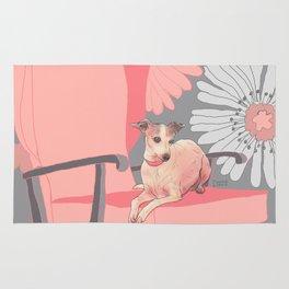 Dog in a chair #3 Italian Greyhound Rug
