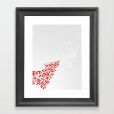 Wolf blooming Framed Art Print