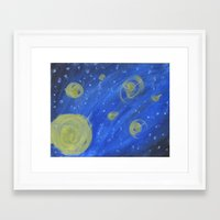 fireflies Framed Art Prints featuring Fireflies by Angelina Yvette