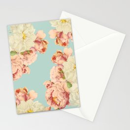 Vintage Sepia Redouté Pastel Roses  Stationery Cards