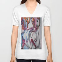 friendship V-neck T-shirts featuring FRIENDSHIP by Loosso