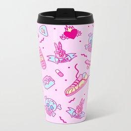 Pink Punk Metal Travel Mug