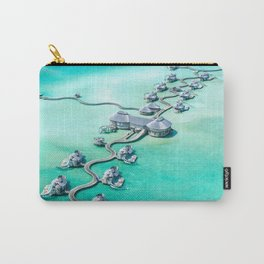 Water vila on Maldives Carry-All Pouch