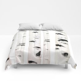 birch horizontal Comforters