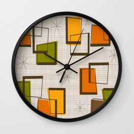 Rectangles and Stars Wall Clock