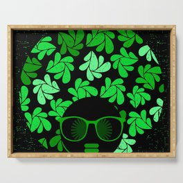Afro Diva : Green & Black Serving Tray