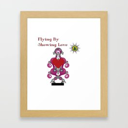 Flying By Showing Love Framed Art Print
