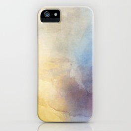Orange and Yellow Abstract Painting Morning Glow iPhone Case