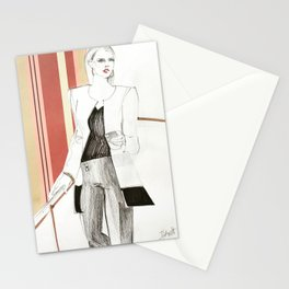 Fashion Illustration Collage Stationery Cards
