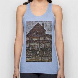 Egon Schiele - House With Shingle Roof Unisex Tank Top