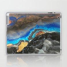 Storm Brewing - Fluid art on canvas Laptop & iPad Skin