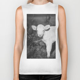 Cute Calf (Black and White) Biker Tank