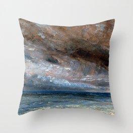 """John Constable """"Stormy Sea, Brighton"""" Throw Pillow"""