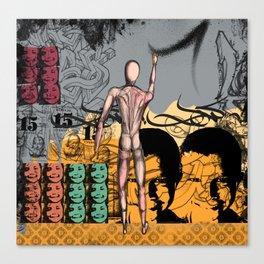 Pains of graffiti artist Canvas Print