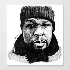 50 Cent Pen Drawing Canvas Print
