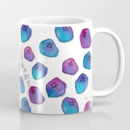 SEE YOU IN MY DREAMS blueberry, berry, fruits, pattern, berries, illustration, kitchen, family Coffee Mug