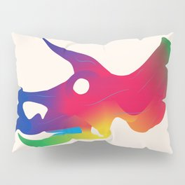 Triceratops in Colour Pillow Sham