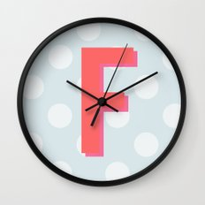 F is for Fantastic Wall Clock