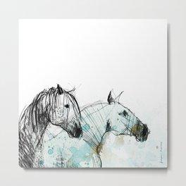 Horses (Double portrait) Metal Print