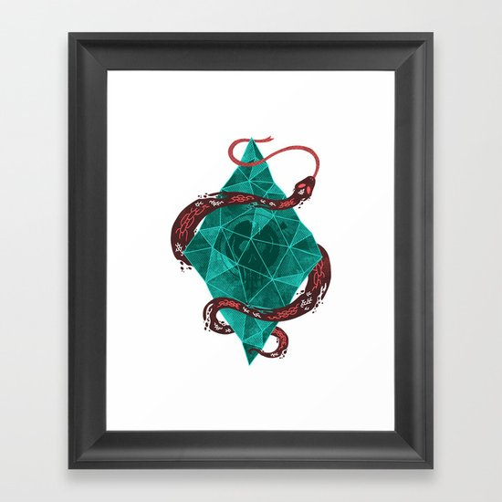 Mystic Crystal Framed Art Print