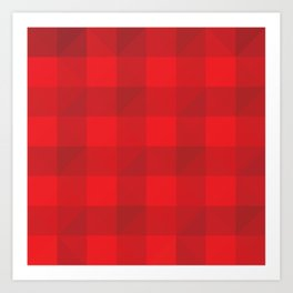 Lumberjack Buffalo Plaid  Art Print