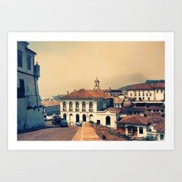 Ouro Preto vintage Art Print