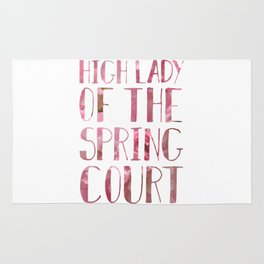High Lady of the Spring Court Rug