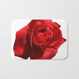 Red Rose Isolated Bath Mat