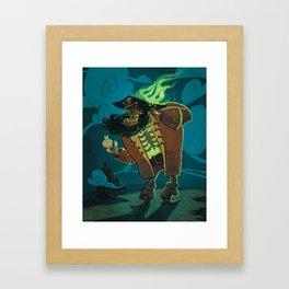 Zombie pirate LeChuck Framed Art Print