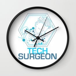 Tech Surgeon Design for Technicians or Engineers Wall Clock