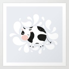 Baby cow Art Print