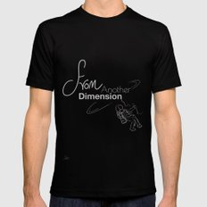 space - from another dimension Black Mens Fitted Tee MEDIUM
