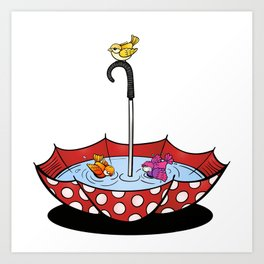 Swimming Birds Art Print