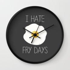 I Hate Fry-Days Wall Clock