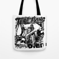 horror Tote Bags featuring Horror by HEADBANGPARTY