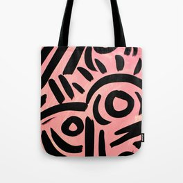 Pink Tribal Graffiti Tote Bag